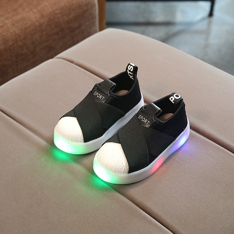 Children Shiny LED Sports Shoes For