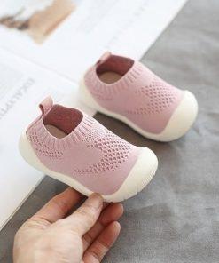 mesh first walker shoes original pink