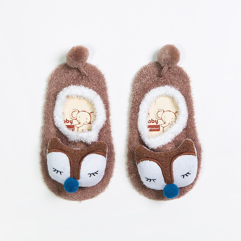 baby booties brown